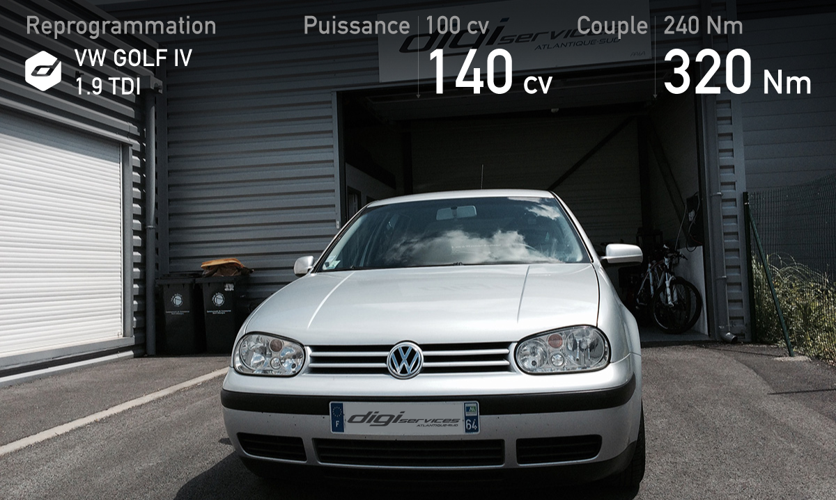 reprogrammation d une vw golf iv tdi 100 digiservices atlantique sud. Black Bedroom Furniture Sets. Home Design Ideas